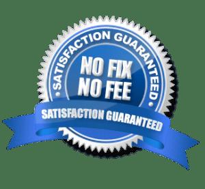 Satisfaction Guarantee - No Fix, No Fee Seal